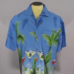 Go Hawaii Surf Wear Cocktails Palm Hawaiian Shirt
